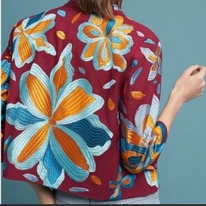 Anthropologie Woodstock embroiled jacket Small